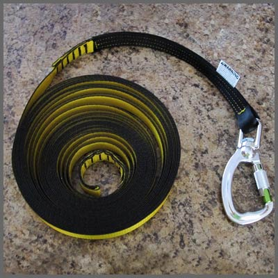 Auto Belay Field Replaceable Yellow Safety Lanyard with built in wear indicators