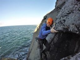 sea cliff climbing in the burren
