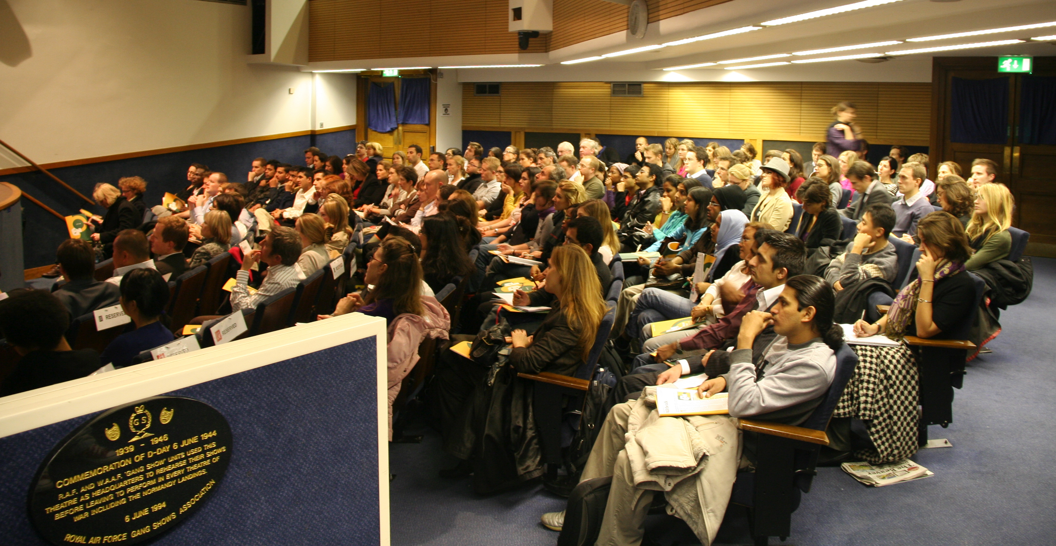 Packed crowd - LSE Lecture 23 November