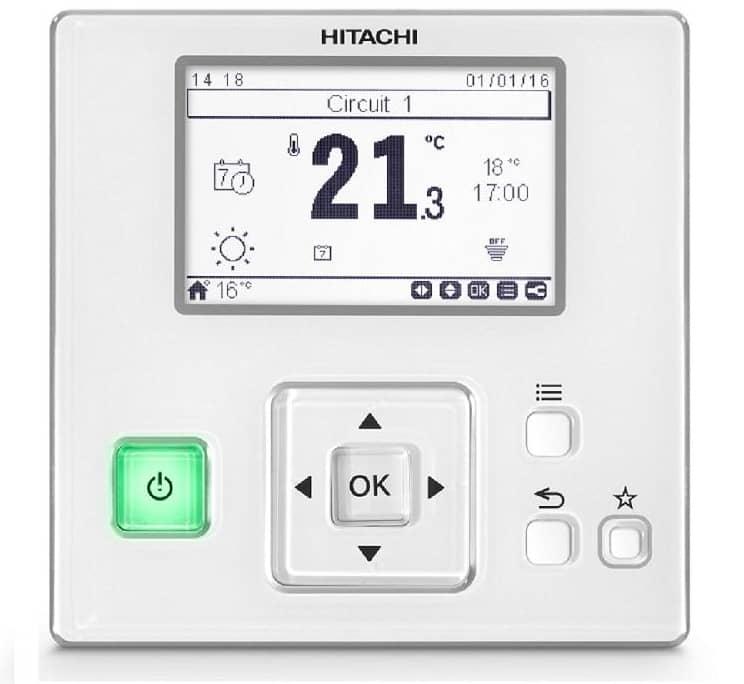 Télécommande de contrôle d'un climatiseur réversible Hitachi