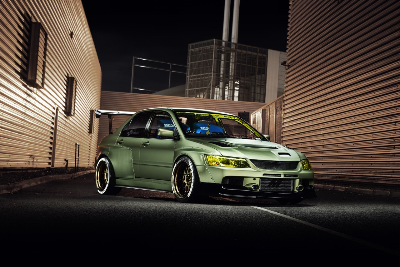 Mitsubishi Evolution Widebody Kit By Clinched Fits Evo7