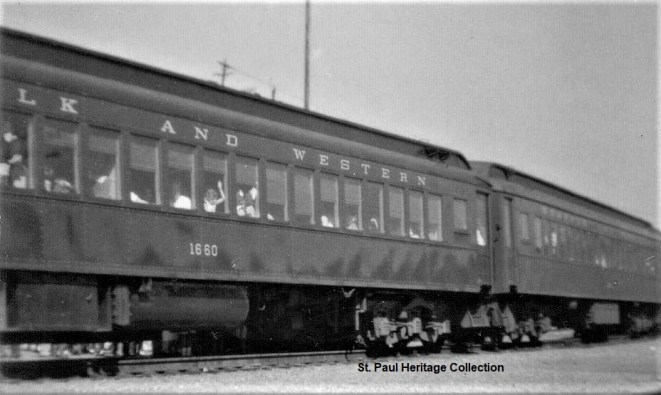 03-30-59 N&W passenger train - coaches