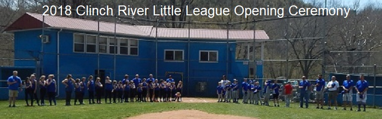 Clinch River Little League Opening Ceremony 04-14-18