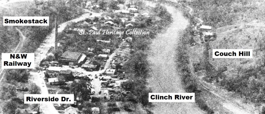 riverside drive - smokestack & houses