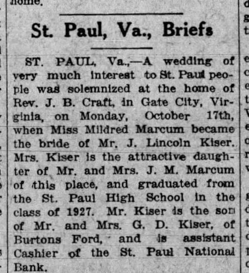 The_Bristol_Herald_Courier_Mon__Oct_24__1927_MARCUM-KISER WEDDING