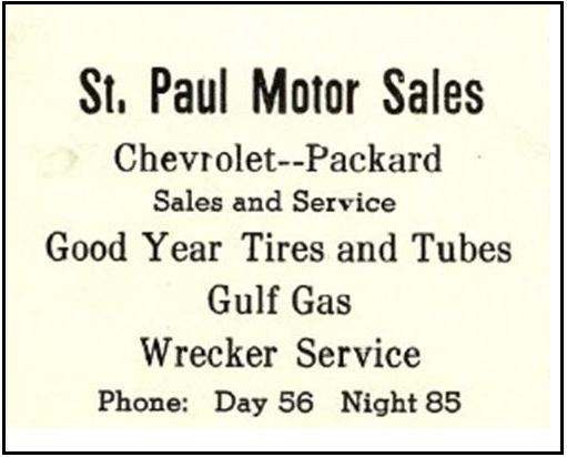 St. Paul Motor Sales 1942