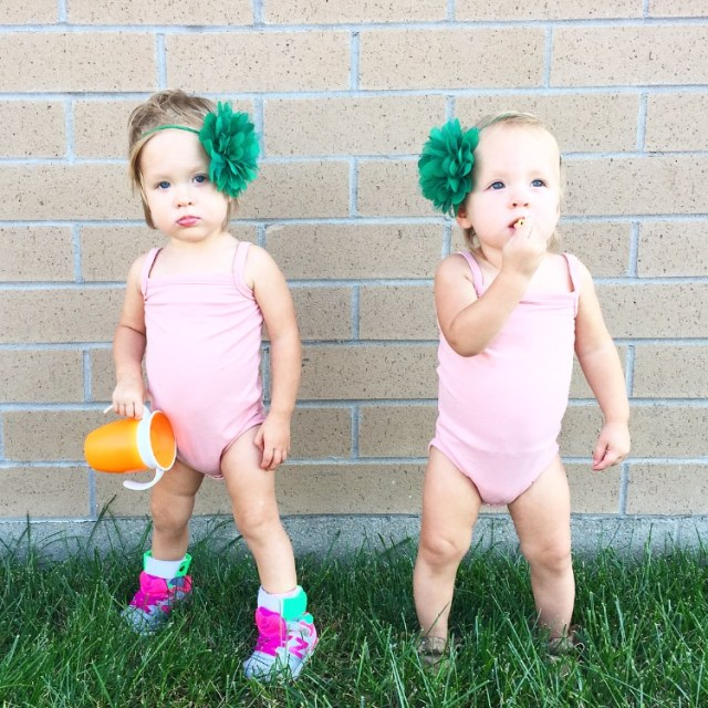 twin toddler leotard
