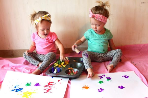 toddler flower painting