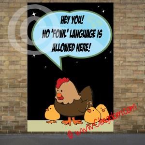 hey no fowl language