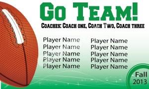 Go-team-football-star-wave-green