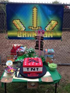 Birthday Minecraft Banner