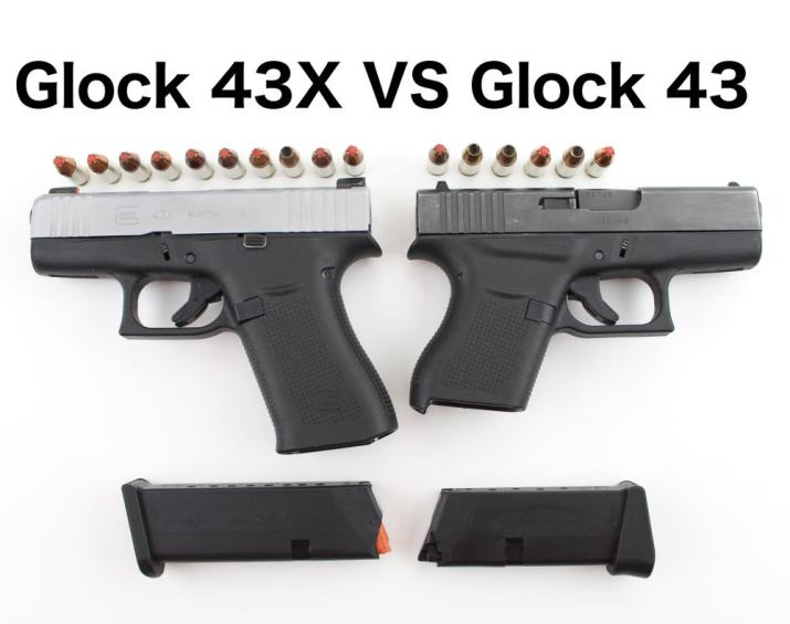 Glock 43X VS Glock 43 (with pictures) | Clinger Holsters