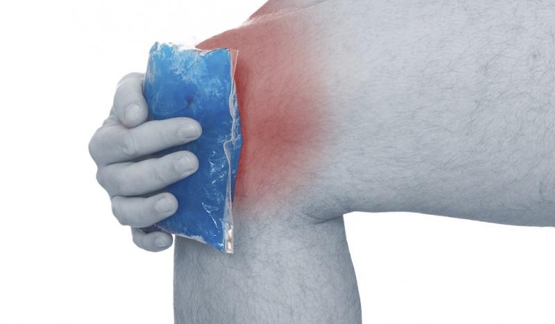 hielo para lesion aguda