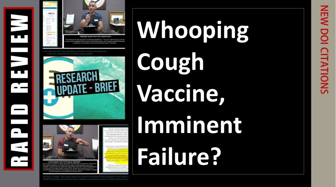 Whooping Cough Vaccine, Imminent Failure?