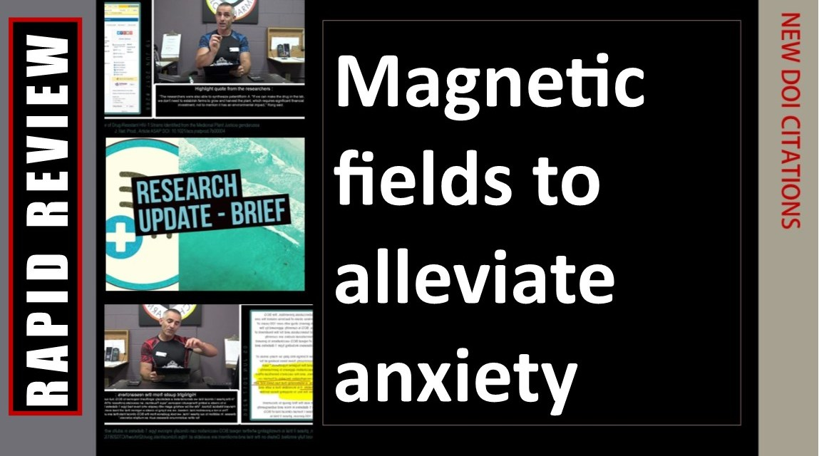 Magnetic fields to alleviate anxiety