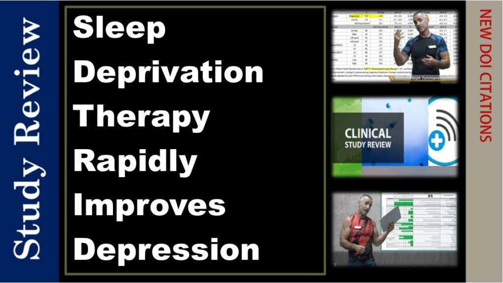 Sleep Deprivation Therapy Rapidly Improves Depression