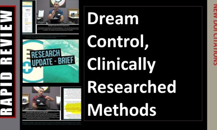 Dream Control, Clinically Researched Methods