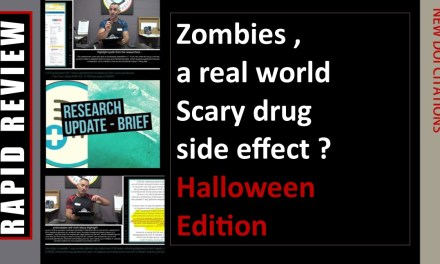 Zombies, a real world drug side effect? (Halloween Edition)