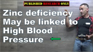 Zinc deficiency and high blood pressure?