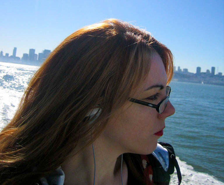 Alithea Howes, with backdrop of the New York City skyline