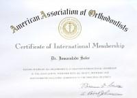 005-DIPLOMA DE MIEMBRO INTERNACIONAL SOCIEDAD AMERICANA DE ORTODONCIA-Inmaculada