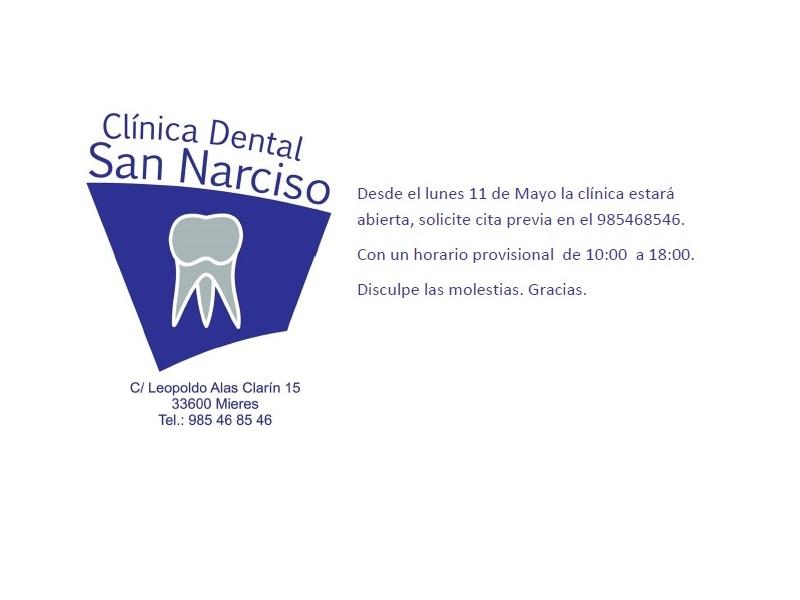 Apertura de la clínica y protocolo