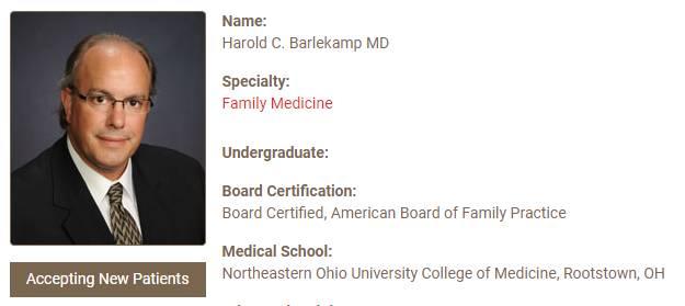 Harold C. Barlekamp MD