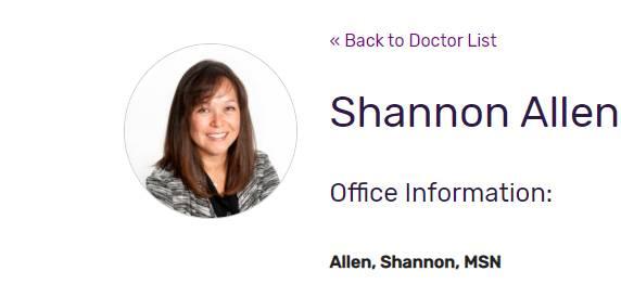 Shannon Allen, MSN