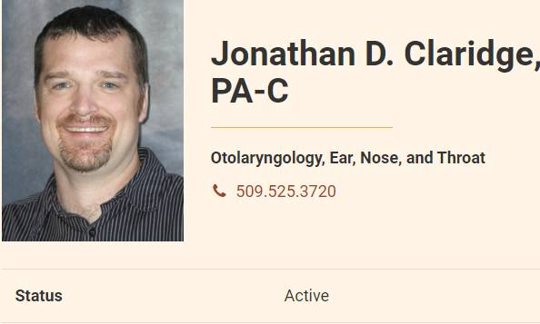 Jonathan D. Claridge, PA-C