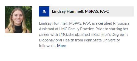 Lindsay Hummell, MSPAS, PA-C