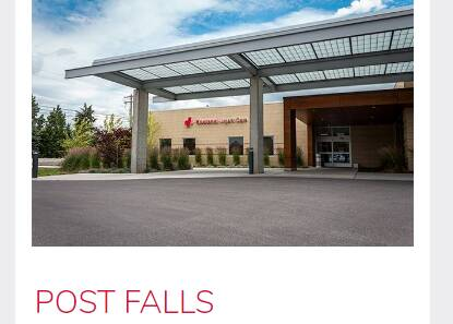 Kootenai urgent care Post-Falls