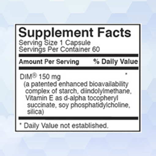 Shop BioTE DIM Supplement Facts - Clinique Dallas Plastic Surgery and Wellness Center