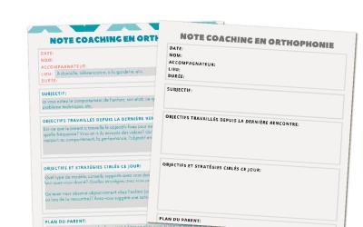 Note de coaching parental en orthophonie