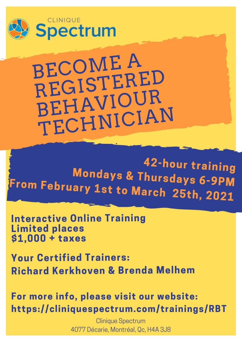RBT Training poster
