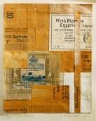 "Miss Blanche. 1923. Collage. 6"" x 5""."
