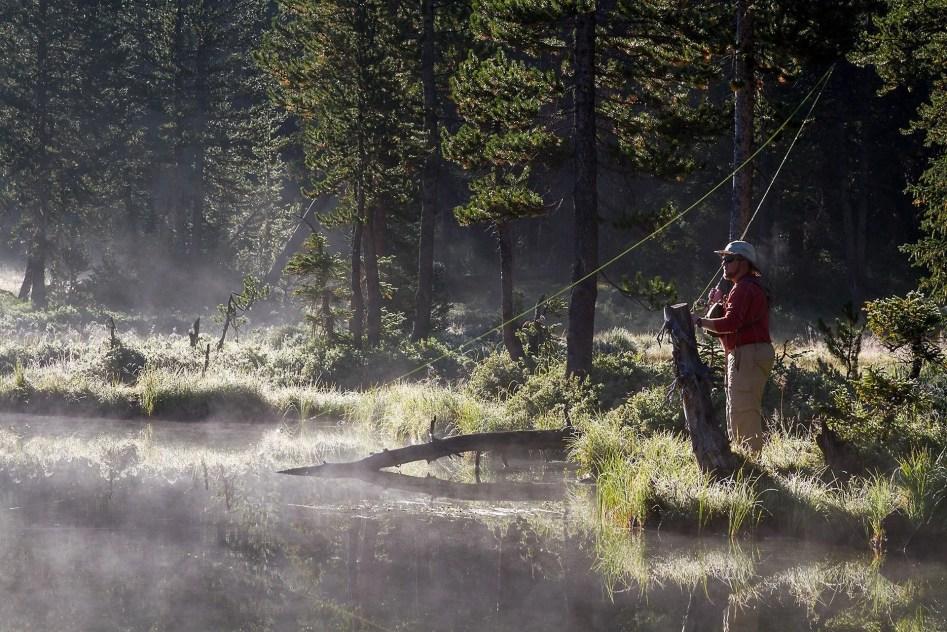 Lake Marion Morning Fly Fisherman - Fly Fishing Photography