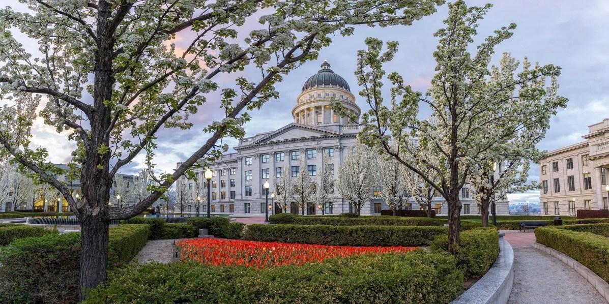 Capitol Morning - Utah Panoramic Photography