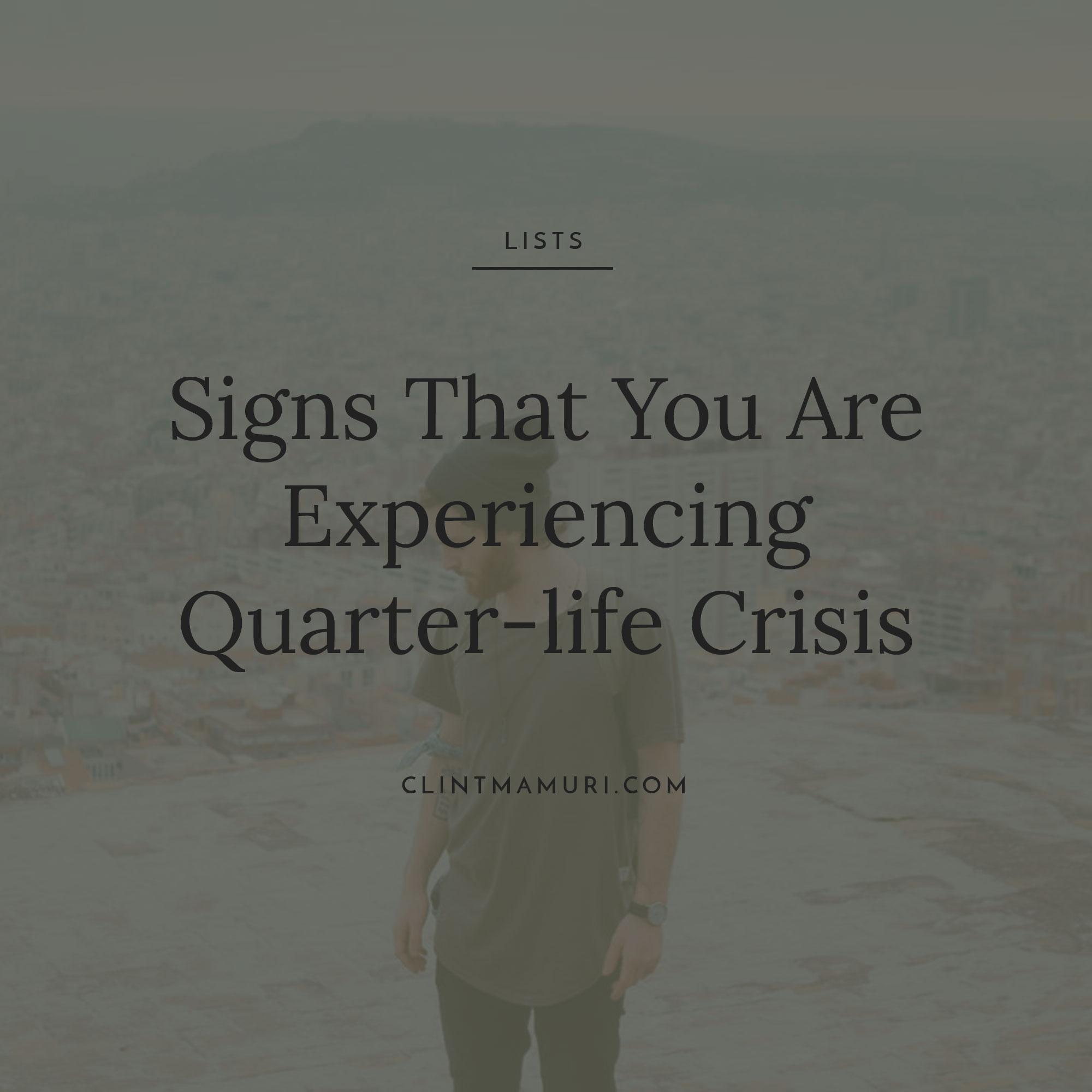 Are you suffering a quarter life crisis foto