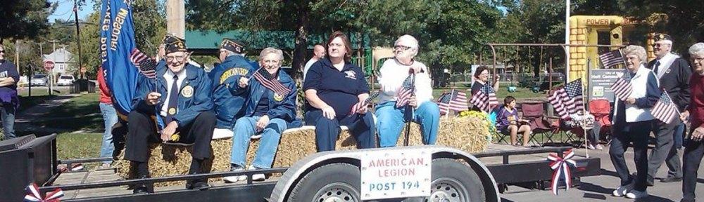 American Legion Post 194 in Cannonball Festival Parade