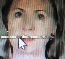 A photo capture of Clinton as she appears in the 2010 cybersecurity video. (Credit: Fox News)