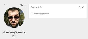 A captured shot of Combetta's 'stonetear' GMail account with picture included. (Credit: public domain)