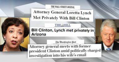 Headlines displayed on a photo capt