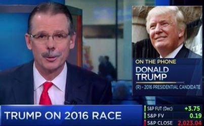 Glenn Hutchins asks Trump a question on CNBC's Squawk Box, on November 16, 2015. (Credit: CNBC)