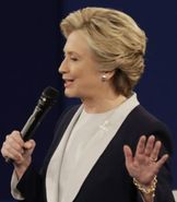 Clinton at the presidential debate in St. Louis, Missouri on October 9, 2016. (Credit: CNN)