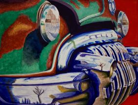 Buick Watercolor 17x22 in