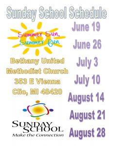 Sunday School Summer Flyer