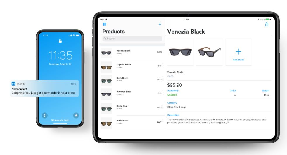 manage your online store from anywhere