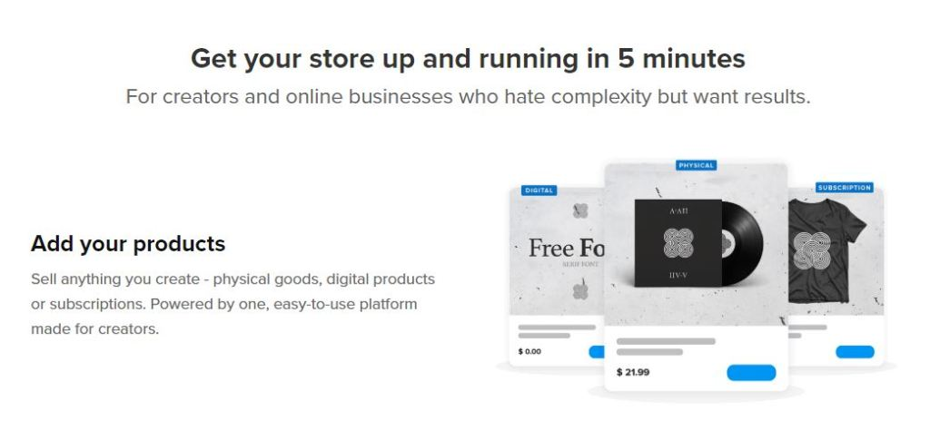 with Sellfy build and run an online store within just 5 minutes