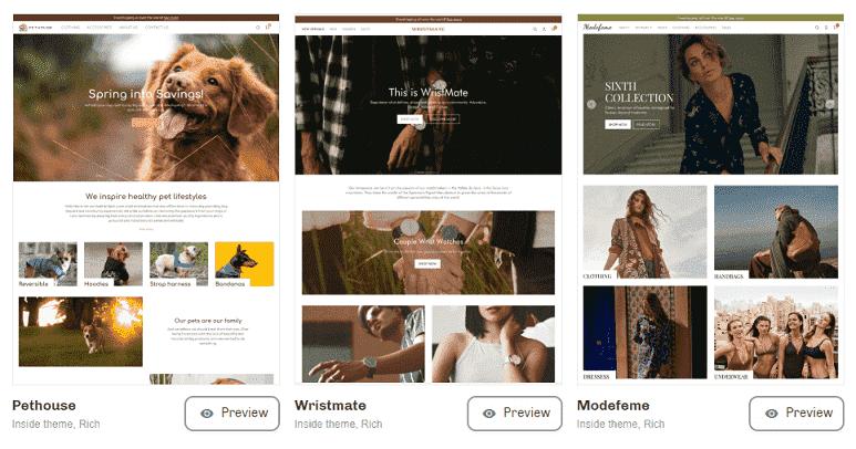 100s of pre-designed ecommerce platform theme