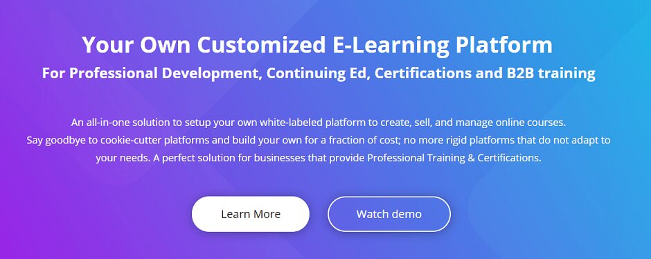 advance white labeled e-learning platform